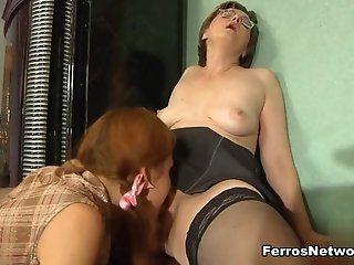 Lesbian,Mature,Stockings,Cunnilingus Gangway,...