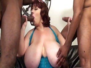 BBW,DP,Group Sex,Mature,Blowjob Sapphire is a BBW slut who enjoys two...