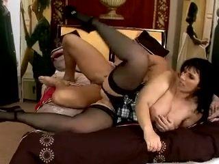 Mature,Big Natural Tits,Big Tits,Stockings
