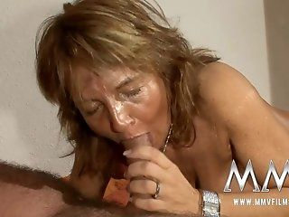 German,Amateur,Mature,Hardcore,Blowjob Martina fucks for...