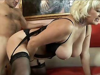 Creampie,Mature,Oldie,Blowjob Old slut in lingerie with floppy...