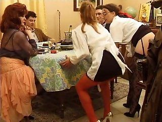 French,Mature,Big Butt,Big Tits,Oldie Mature French whores seducing younger...