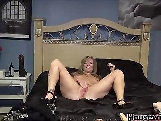 Big Tits;Amateur;Mature;MILF;Masturbation huge black toy in...